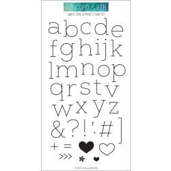 "590415 Concord & 9th Clear Stamps Simple Serif Alphabet 4""X8"""