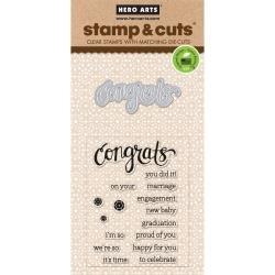 374100 Hero Arts Stamp & Cuts Congrats