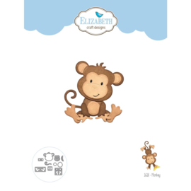 "EC1618 Elizabeth Craft Metal Die Monkey 2.3""X2.4"""