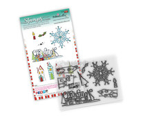 PD8083 Polkadoodles Christmas Scenes Clear Stamps