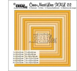 115634/0022 Crealies Dies XXL no. 22  Vierkant basis