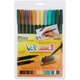 228166 Le Plume II Double-Ended Markers Victorian 12/Pkg