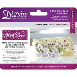 "376038 Die'ssire Create-A-Card Interchangeable Die With Love, 2""X5"""