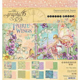 """G4502082 Graphic 45 Double-Sided Paper Pad Fairie Wings 8""""X8"""" 24/Pkg"""