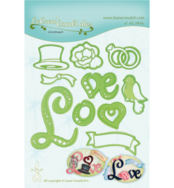 45.3936 LeCrea'Multi Die Cutting/Emb. Love combi