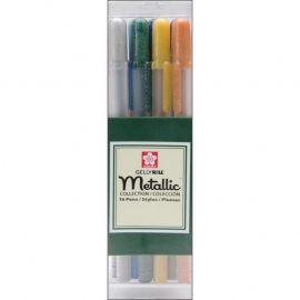 369132 Sakura Gelly Roll Metallic Medium Point Pens Assorted Colors
