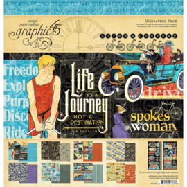 "602917 Graphic 45 Collection Pack Life's A Journey 12""X12"""