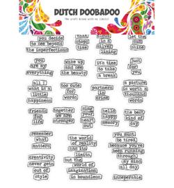 491.200.009 Dutch DooBaDoo Dutch Sticker Art Doodle text