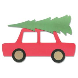 665351 Sizzix Bigz Plus Die By Olivia Rose Car & Tree