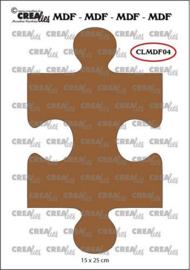 CLMDF04 Crealies MDF puzzel koppelbaar
