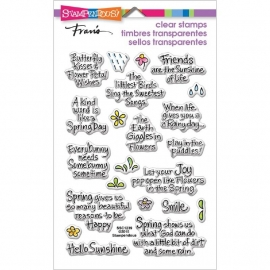 518998 Stampendous Perfectly Clear Stamps Spring Sentiments