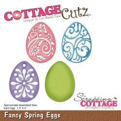"303272 CottageCutz Elites Die Fancy Spring Eggs, 1.5""X2"""