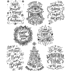 425522 CMS-LG 287 Tim Holtz Cling Stamps Doodle Greetings