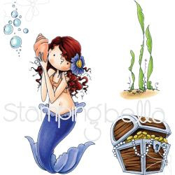 075840 Stamping Bella Tiny Townie Cling Stamp Mermaid