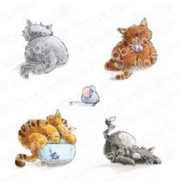 565565 Stamping Bella Cling Stamps Set Of Kittens