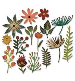 662702 Sizzix Tim Holtz Thinlits Funky Floral #3