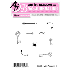 644050 Art Impressions Bible Journaling Clear Stamps Mini Accents #1