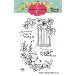 """C3WW513 Colorado Craft Company Clear Stamps Life Lasts-Whismy World 4""""X6"""""""