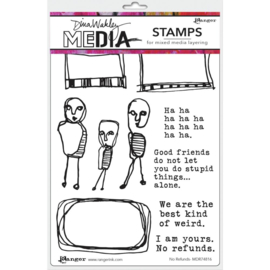 "MDR 74816 Dina Wakley Media Cling Stamps No Refunds 6""X9"""