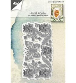 6002/1269 Cutting & embossing Bloemenborder met vlinder