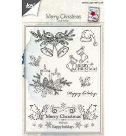 6410/0443 Stempel Kerst kaarsen/klokken