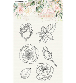 SL-ALS-STAMP01 StudioLight Clear Stamp Rose flower Another Love Story nr.1