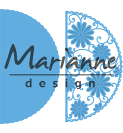LR0517Marianne Design Creatables Anja's flower demi circle