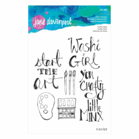 JDS-045 Jane Davenport Clear Stamps Crafty Minx