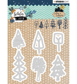 STENCILWJ227 StudioLight Embossing Die, Winter Joys nr.227