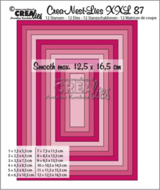 115634/0187 Crealies Crea-Nest-Lies XXL no 87 gladde rechthoeken halve cm
