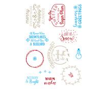 LDRS3256 LDRS Creative Snowflakes & Blizzards Clear Sentiment Stamps
