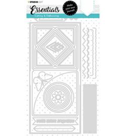 SL-ES-CD100 StudioLight Cutting Die Square journal Essentials nr.100