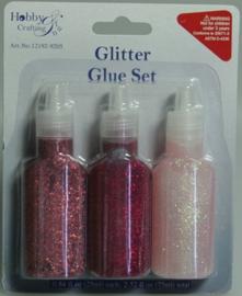 870403/9205 Glitterlijm roze assorti 25 ml 3 ST