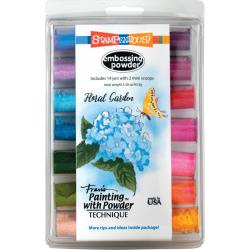 580564 Stampendous Embossing Powder Floral Garden