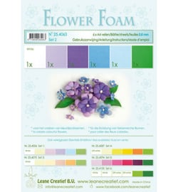 254063 Leane Creatief Foam sheets assorti Set 2 Blue Violet Colours