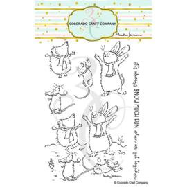 "C3AJ523 Colorado Craft Company Clear Stamps Get Together-By Anita Jeram 4""X6"""