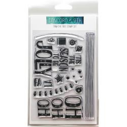 """255226 Concord & 9th Clear Stamps Trim The Tree 4""""X6"""""""