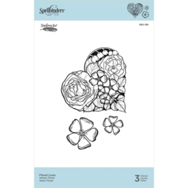 SBS188 Spellbinders Cling Stamps Floral Love  By Stephanie Low