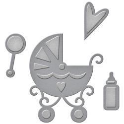 S2228 Spellbinders Shapeabilities Die D-Lites Sweet Baby