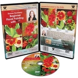 132753 Donna Dewberry DVD Floral Beginner Painting With Oil