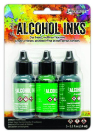 TAK69652 Ranger Alcohol Ink Ink Kits Mint/Green Spectrum
