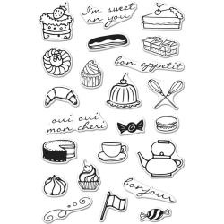 """HA-CM147 Hero Arts Clear Stamps French Treats 4""""X6"""""""