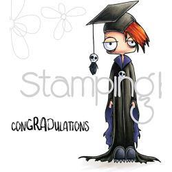 265756 Stamping Bella Cling Stamps Oddball Boy Graduate