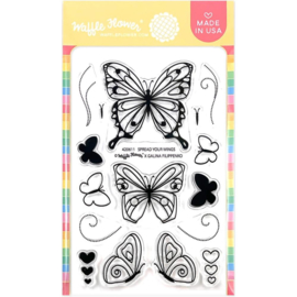 """657035 Waffle Flower Crafts Clear Stamps Spread Your Wings 4""""X6"""""""