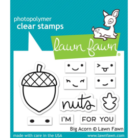 "LF2403 Lawn Fawn Clear Stamps Big Acorn  3""X2"""