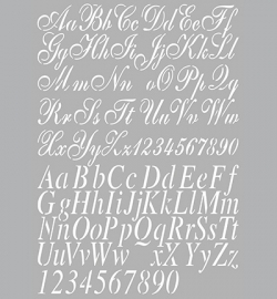 470.455.002 Mask Stencil - Dutch Stencil Art Alphabet 2