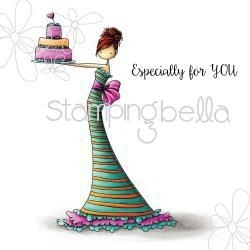 """489336 Stamping Bella Cling Rubber Stamp Brittany The Birthday Girl 6.5""""X4.5"""""""