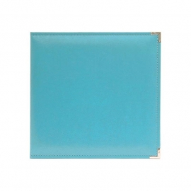 "517010 We R Classic Leather 3-Ring Album Aqua  12""X12"""