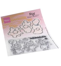 EC0187 Marianne Design Eline's Pigs