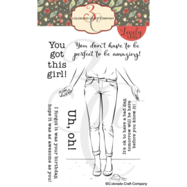"""C3LL519 Colorado Craft Company Clear Stamps Uh, Oh!-Lovely Legs 4""""X6"""""""
